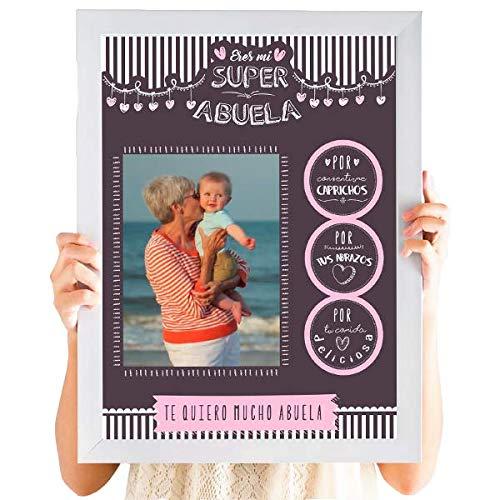 Cuadro Personalizado Día de La Madre | Regalo abuela personalizado con fotografía