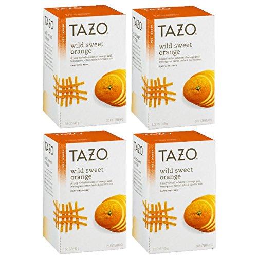 Tazo Wild Sweet Orange Herbal Tea, 20 ct(Pack of 4)