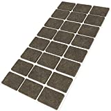 Adsamm® | 24 x Filzgleiter / 25x35 mm/Braun/rechteckig / 3.5 mm starke selbstklebende Filz-Möbelgleiter in Top-Qualität