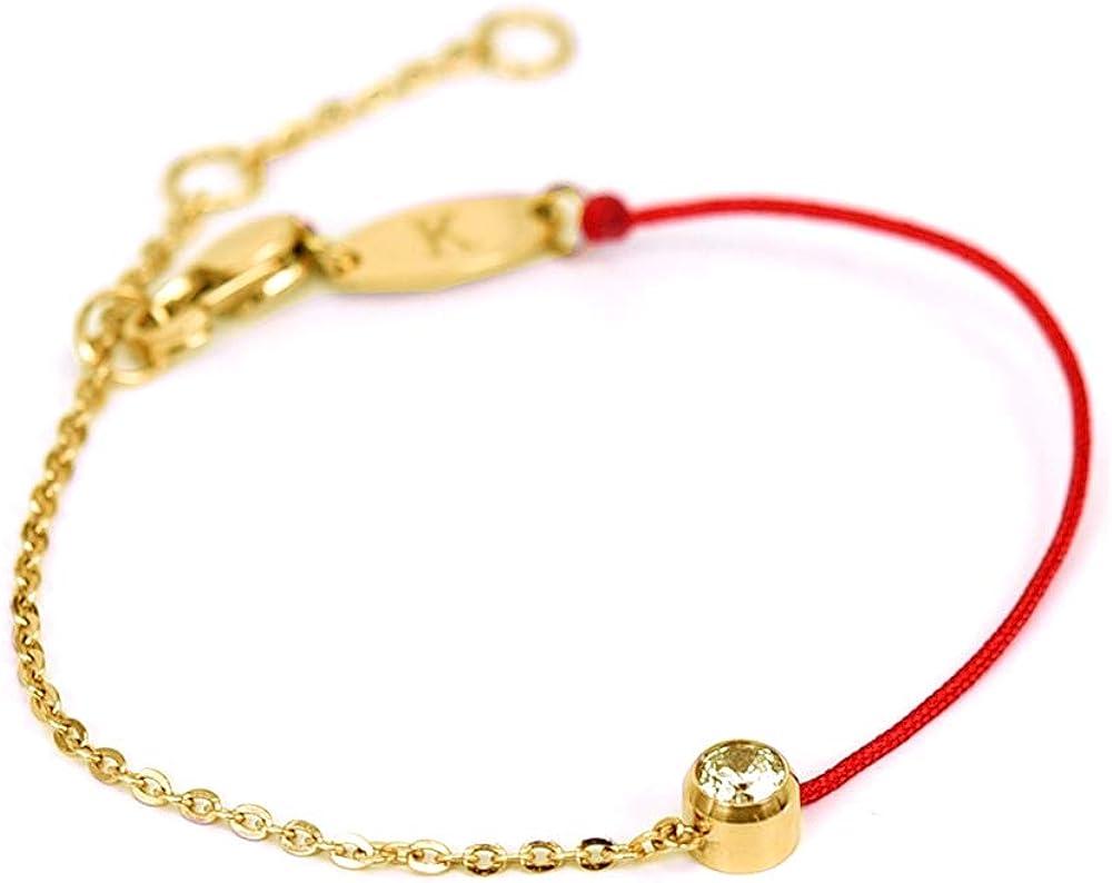 ZUOPIPI Elegent Red String Bracelet With Rhinestone Lucky Bracel