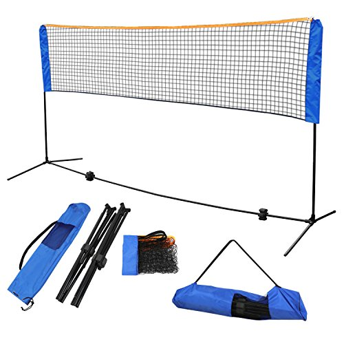 F2C Instant Setup Portable 10FTX 5FT Badminton Net Set Kids' Volleyball Soccer Tennis Pickleball Net Set W/Steel Frame Stand Freestanding& Carrying Bag Indoor Outdoor Court Bench Driveway Gym