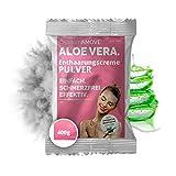 400g Capillum AMOVE Aloe Vera Einzel-Beutel [Extra Sanft] - Schmerzfreies Dusch Haarentfernungcreme Pulver mit neutralem Geruch (Körper & Intimbereich)