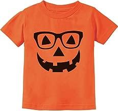 Cute Little Geeky Pumpkin Halloween Jack O' Lantern Toddler/Infant Kids T-Shirt