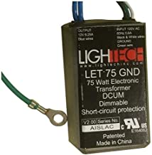 GE's Lightech LET 75 GW Ground Wire (12V/75W) GELT75A12012GW 66947 Halogen Lighting Transformer