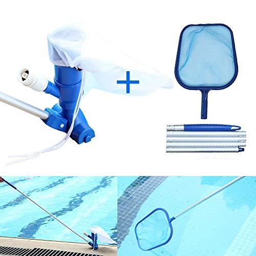 DSYYF Jet Vacuums für Schwimmbäder, tragbares 3,9-Zoll-Reinigungswerkzeug für Schwimmbäder mit Bürstensauger, Vakuumwandklettern und Abschäumernetz