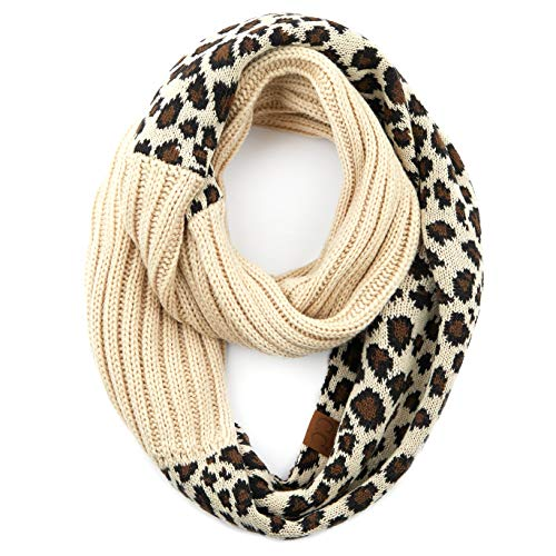 C.C Exclusives Multi Color Cable Knit Infinity Scarf (SF-800) (Black)