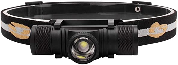 QSCTYG Hoofd Torch Lumen LED Koplamp 4-Mode Zoom Koplamp Oplaadbare Hoofd Torch Vissen Camping Zaklamp Batterij 348