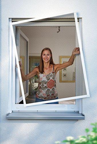 Schellenberg 70040 Insektenschutz-Fenster Premium Fliegengitter mit Alu-Rahmen und Fiberglas Gewebe, individuell kürzbar, Montage ohne Bohren, inkl. Befestigung