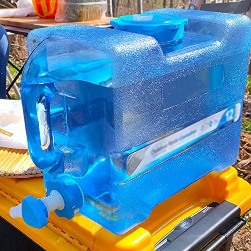 WWJQ Bidón De Agua de Multifuncional Ideal para Deportes, Campamento, Senderismo, Pícnic, Barbacoa, Depósito de Agua de Plástico Grado Alimenticio, con Grifo Tapa