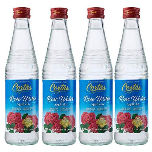 rose waters Cortas Rose Water, 10-Ounce Bottles (Pack of 4)