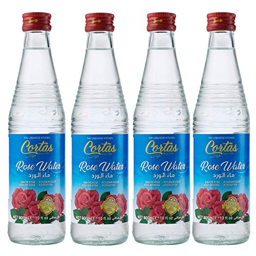 Cortas Rose Water, 10-Ounce Bottles (Pack of 4)