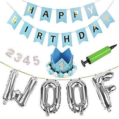 Dog Birthday Decorations,10PCS Party Banner Decorative Happy Birthday Letter Banner with Dog Cat Birthday by Legendog