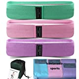 K&KLACOSTA Elastic Resistance Bands for Women and Men Fitness, Workout Outdoor Exercise, Gift, 3-Level Set, Non-Slip Legs and Buttock Sports Bands, Non-Slip.