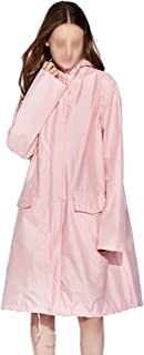 WZHZJ Long Raincoat Women Men Waterproof Windproof Hooded Light Hiking Rain Coat Poncho Jacket Cloak Ladies Raincoat (Size...