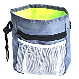 muxiLH Dog Training Treat Snack Bait Waist Bag Pet Obedience Agility Outdoor Food Pouch - Grey