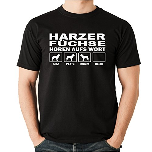 Siviwonder HARZER Fuchs Altdeutscher Hütehund Harz Füchse - HÖREN AUFS Wort Unisex T-Shirt Shirt...