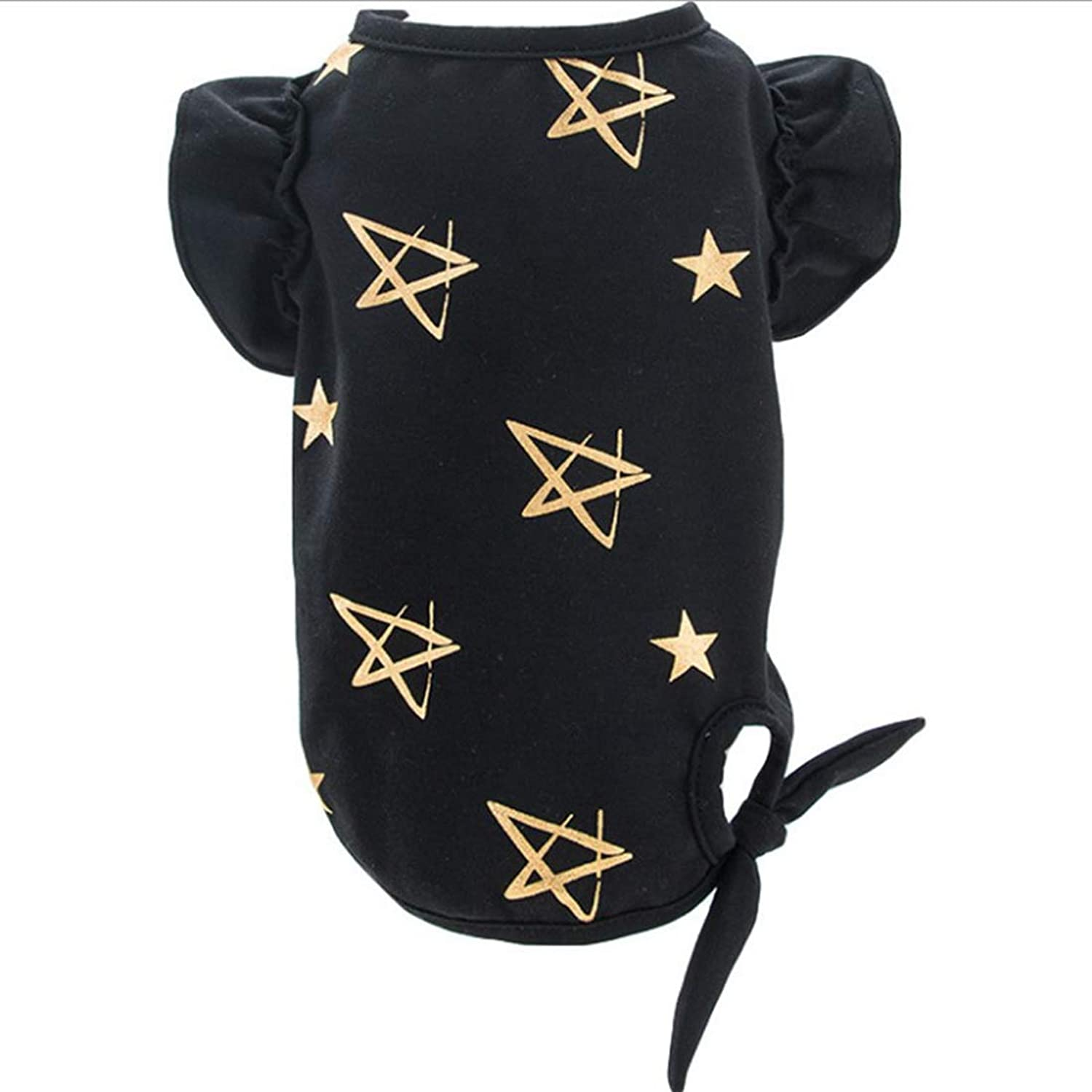 Huayue Precious Dog Clothes Pet Puppy Dog TShirt Spring and Summer Slight Section (color   Black, Size   XL)
