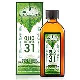 Olio 31 Erbe Biologico 100 ml Naturale Tonificante Per Massaggi Muscolari Per Aromaterapia Per Diffusore Azione Balsamica Profumazione Gradevole e Persistente - Non Unge