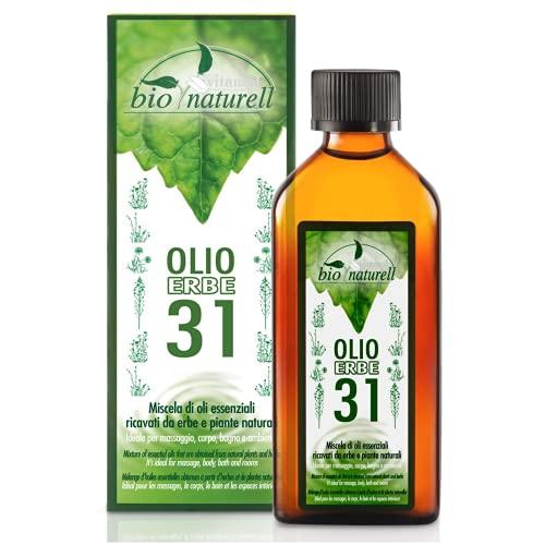 Aceite de hierbas orgánico 31 100 ml Vitamol revitalizante para masajes musculares y aromaterapia - No graso