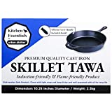 Urban Platter Induction Base Cast Iron Silicone Fry Pan, 10.25 Inches