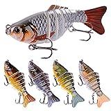 One plus one 5 PCS Wobblers Pesca Cebos De Pesca, Multi-Articulados Artificiales, Secciones Artificiales Cebos Duros, Pike Pike Carp, Equipos De Pesca para Bass De Carpa, Pike, Trucha De Walleye