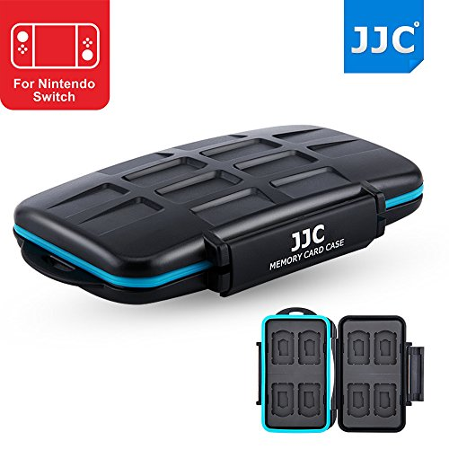 JJC MC-NSMSD16 耐水防塵ゲームカードケース 8枚Switchゲームカードと8枚MircoSDカード適用