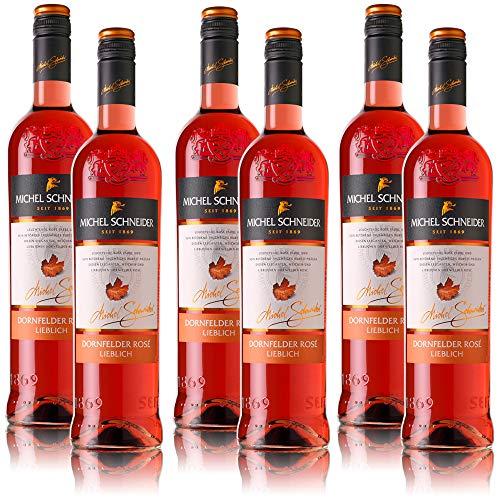 6 Flaschen Michel Schneider Dornfelder Rosé Pfalz QbA, lieblich (6 x 0,75 l