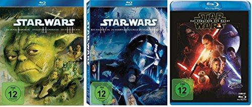 Star Wars Saga I-VI+VII (Teil 1+2+3+4+5+6+7) [Blu-ray Set] inkl. Das Erwachen der Macht / Alle 7 Teile