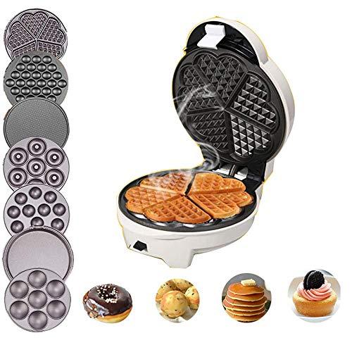 SZHWLKJ Multi-Function Sandwich Grill Waffle Maker Non-Stick Toaster Panini Press 640w Toastie...