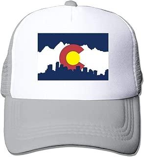 Colorado Flag City Mesh Unisex Funny Trucker Baseball Hats