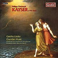 Goethe Lieder & Chbr Music