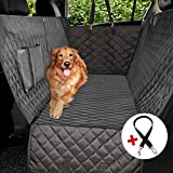 Vailge Extra Large Dog Car Seat Covers, 100% Waterproof Dog Seat Cover for Back Seat with Zipper Side Flap, Heavy Duty seat Cover for Dogs, Dog car Hammock Pet Seat Cover for Cars Trucks suvs