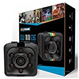 Mini Camera Action cop Cam - Cameras for Indoor or Outdoor Surveillance, Home Office or Car Video Recorder with 1080p HD Recording and Night Vision - 1 Cubic Inch