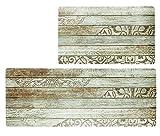 Kitchen Floor Comfort Mat Set, HiiARug Anti Fatigue Standing Mats 2-Pack Kitchen Runner and Rug...