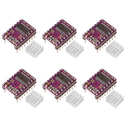 ALMOCN 6PCS DRV8825 Stepstick Stepper Motor Driver Module with Heat Sink for 3D Printer RepRap RAMPS 1.4,Purple