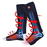 Unisex Electric Heated Socks Winter Warm Rechargeable Battery Powered Heat Sox Kit Men Women Thick Cotton Thermal Heating Footwarmer Sports Outdoor Climbing Hiking Skiing Hunting Heating Socks,3 Heat