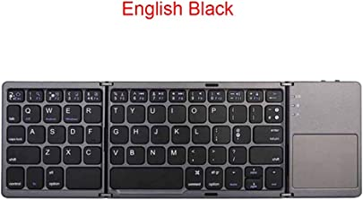 XSYYQYLL Tragbare Zwei Faltbare Faltbare Bluetooth-Tastatur BT Wireless Folding Touchpad Keyboard Tablet Color English Black Schätzpreis : 36,20 €