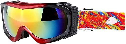 HEXUAN Lunettes de Ski pour Hommes et Femmes Lunettes de Ski Lunettes de Ski Alpinisme Double Pare-Brise sphérique
