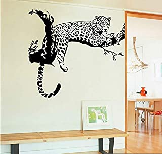 COVPAW Wall Stickers Decor Decal Leopard Removable US Stock Living Room Bedroom Guestroom Stair Lobby