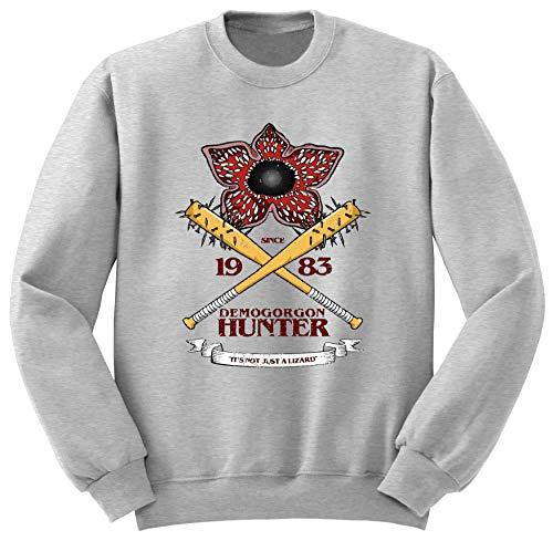 BlackSweatshirt Demogorgon Hunter Stranger Things Sudadera L STR14