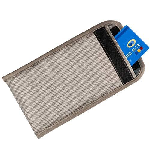ZCVB Anti-Radiación Bolsa De Teléfono Celular Bolso Faraday Fibra Plateada Escudo RFID GPS 5G EMF Bolsas De Bloqueo De Señales Anti-Seguimiento Anti-Espionaje