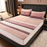haiba Juego de sábanas y fundas de almohada de franela de algodón cepillado suave extra profunda, tamaño individual, doble, super king, 120 x 200 + 30 cm