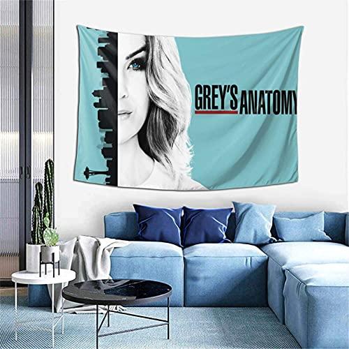 Tapices artísticos de Grey's Anatomy, tapiz colgante de pared con estampado 3D para dormitorio, sala de estar, dormitorio, apartamento, tamaño 60X40 pulgadas