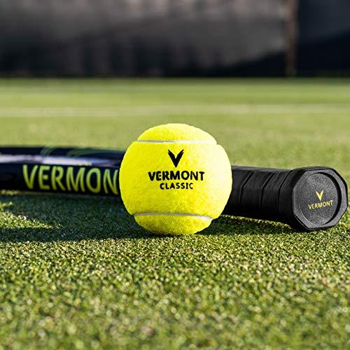 Vermont Classic Tour Tennis Balls - ITF Approved Woven Cloth Tennis Ball (3 Tubes / 12 Balls)