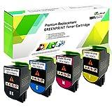 Cartucce Toner Compatibili 4 Colori CS310 CS410 CS510 4000 Pagine BK ad alta Capacità, 3000 Pagine CMY per Stampanti Lexmark CS310dn CS310n CS310dn CS410n CS410dn CS410dtn CS510de CS510dte GREENPRINT