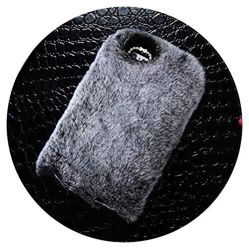 iPhone 6 6s 7 8 Plus Strass Fell Flauschige Hüllen für iPhone X 5s 5 SE Zubehör Capinhas, for iPhone 5s 5 SE, grau