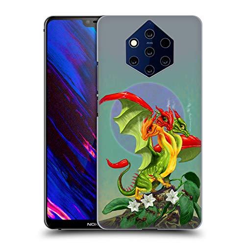 Head Case Designs sous Licence Officielle Stanley Morrison Poivron à Trois têtes Les Dragons 2 Coque Dure pour l'arrière Compatible avec Nokia 9 PureView