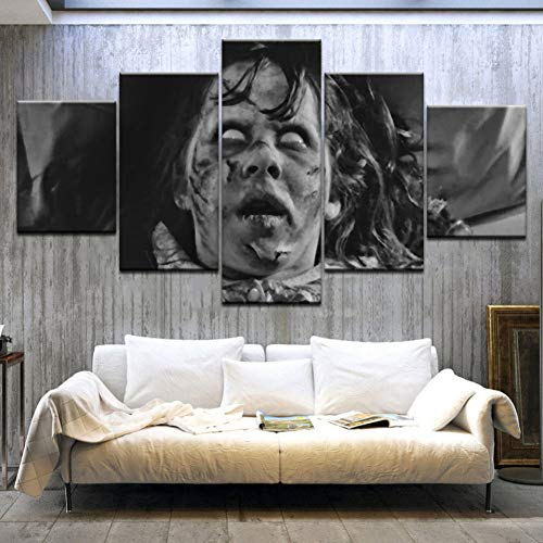 WFUBY Five paintings 5 pieces HD Print The Exorcist wall posters Print On Canvas Art Painting For home living room decoration(No Frame)-40x60x2 40x80x2 40x100cm