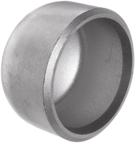 Stainless Steel 316/316L Pipe Fitting, Cap, Butt-Weld, Schedule 40, 6' Pipe Size