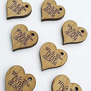 Personalised Lucky Love Hearts Bridal Wedding Favours and